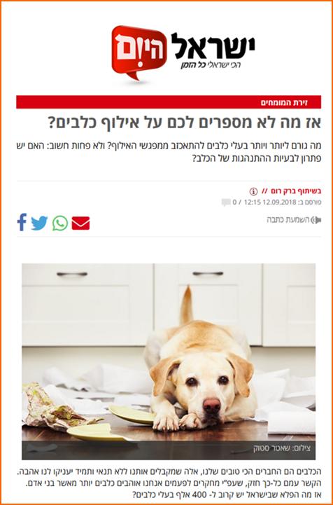 כתבה באתר ישראל היום
